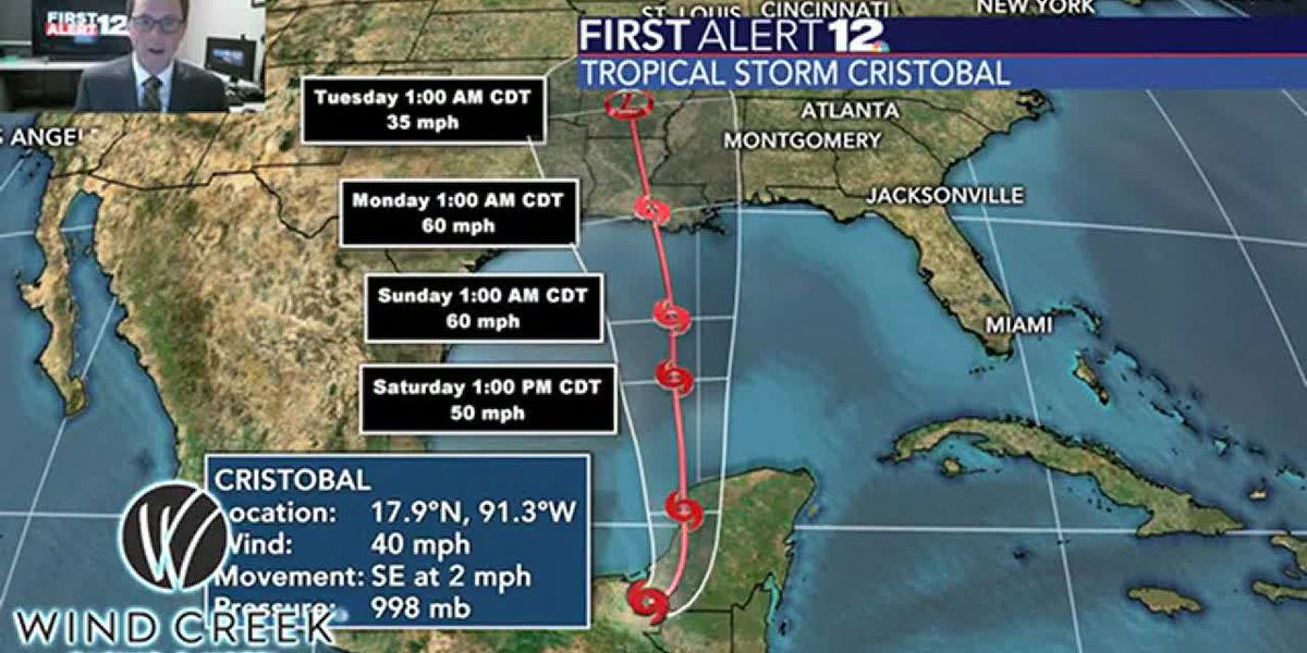 More isolated to scattered rain and storms, plus a look at the impacts of Cristobal