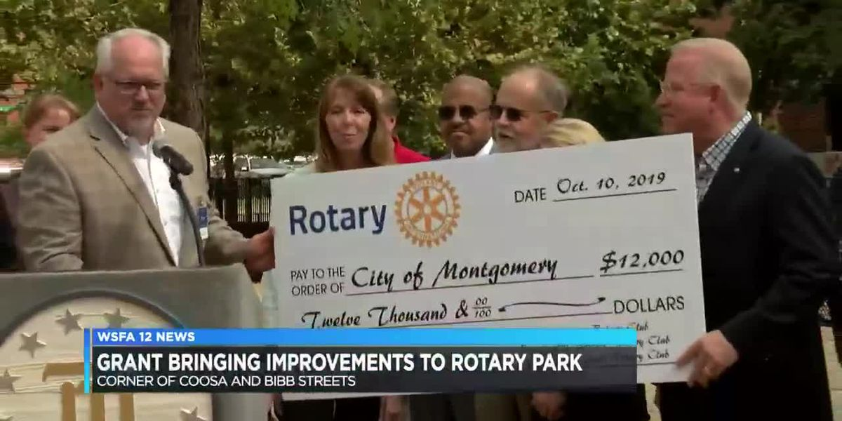 Grant bringing improvements to Montgomery park