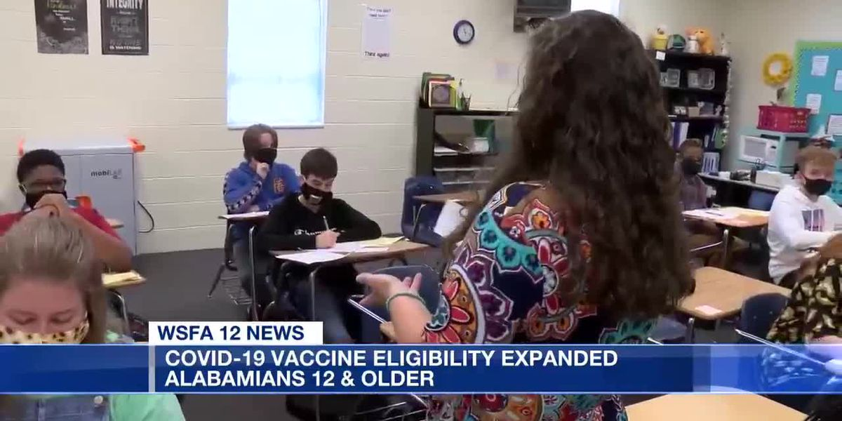 COVID-19 vaccine eligibility expanded to Alabamians 12 & older
