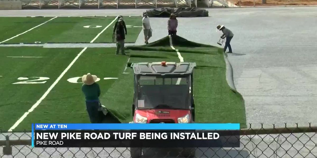 Pike Road rolling out turf for new football stadium
