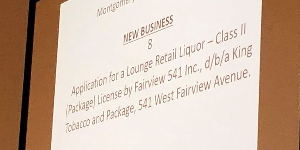 Montgomery city council denies application for liquor store