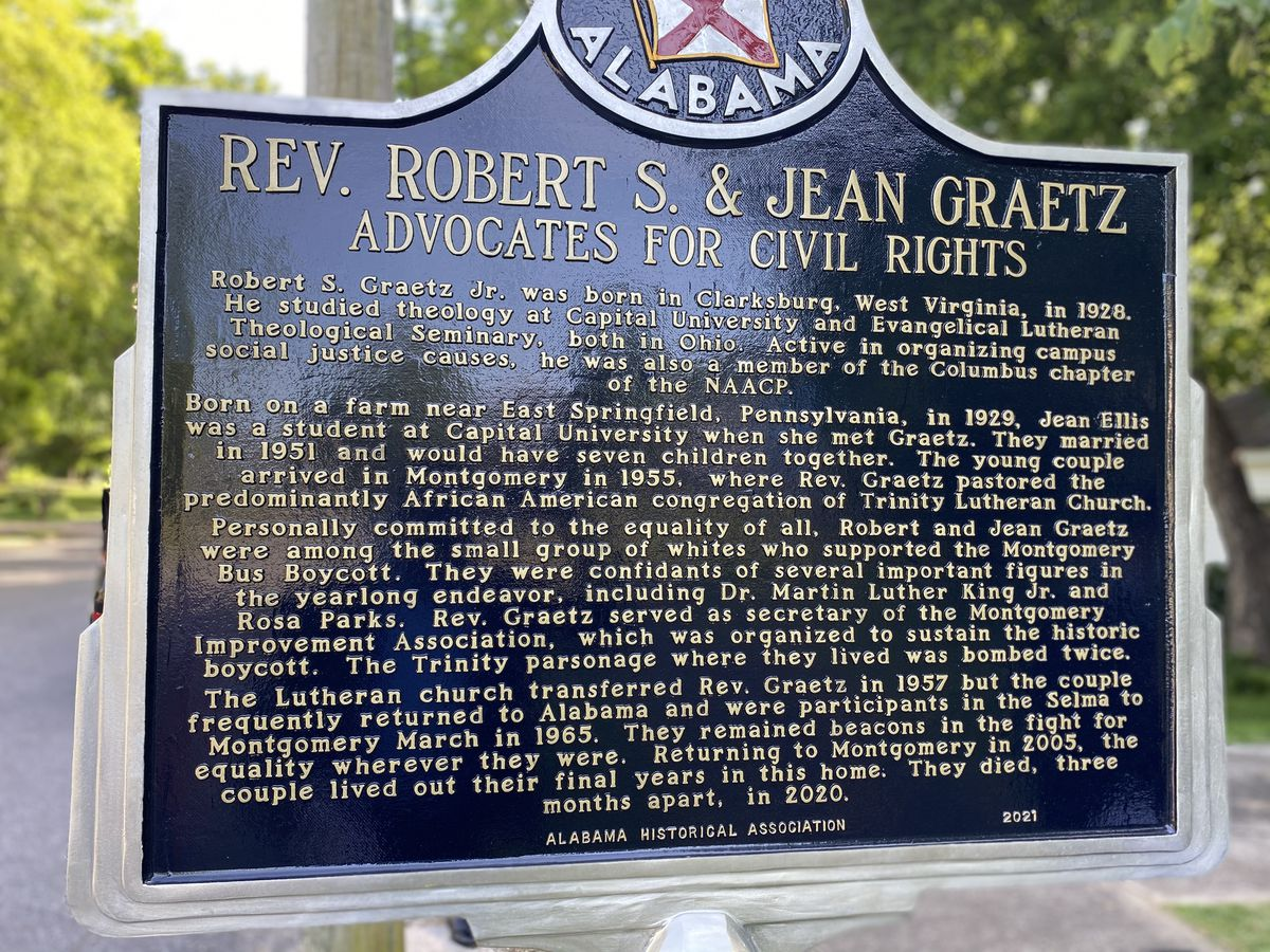 Historic Montgomery marker honors Rev. Robert and Jeannie Graetz