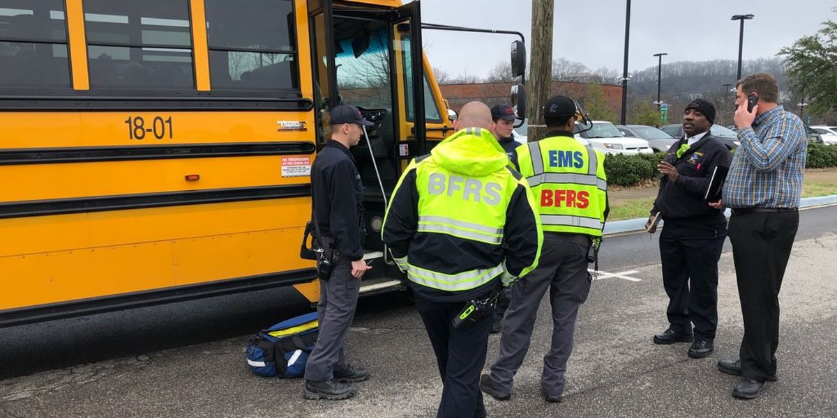 Four elementary school students hurt in school bus accident