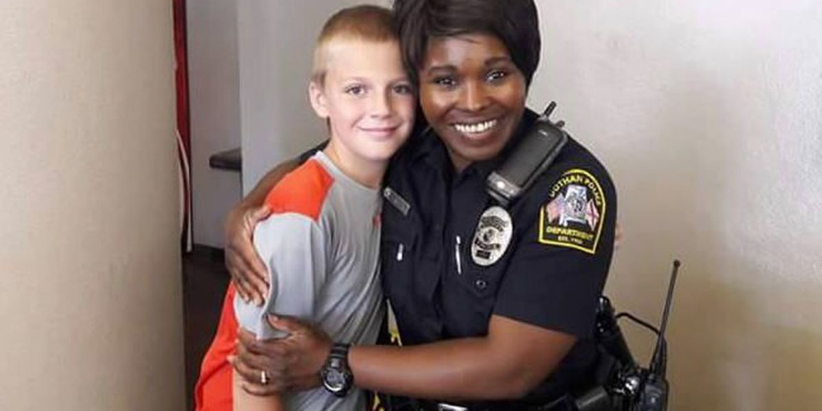 Actions like Dothan boy's officer fist bumps, hugs playing out across US