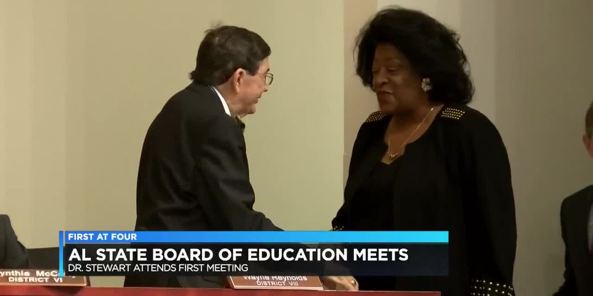 Dr. Tommie Stewart attends first ALSBOE meeting
