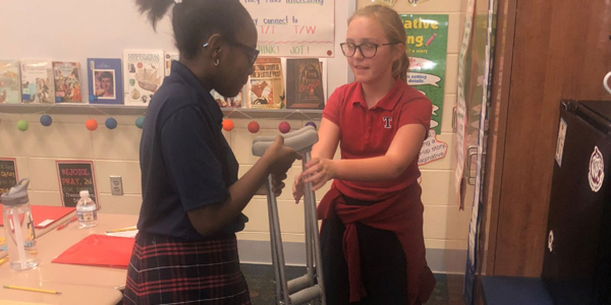 From strangers to besties: Injury unites 2 Montgomery 5th graders