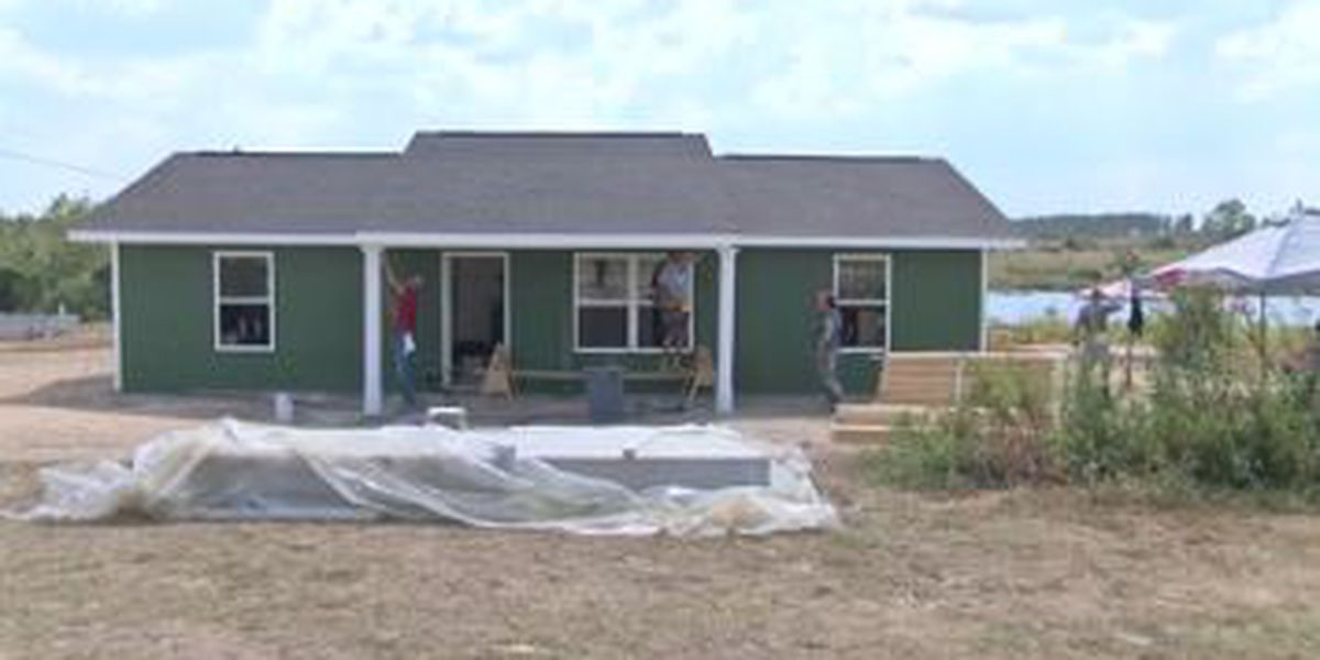 Tornado victims in Lee County receive new homes