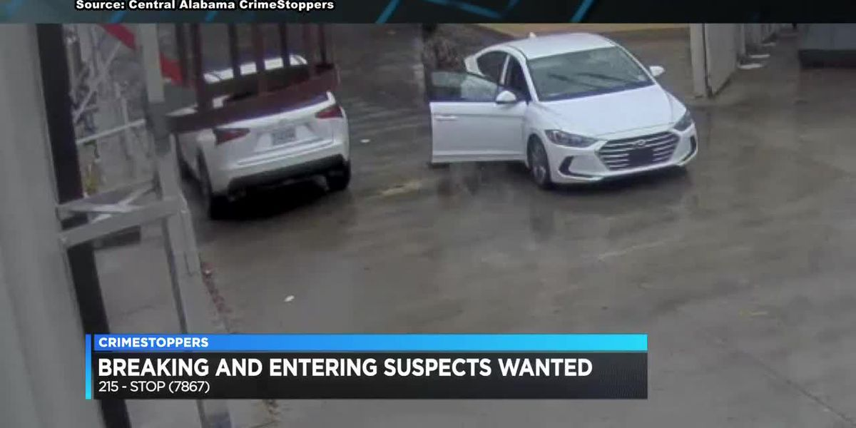 Breaking and entering suspects wanted