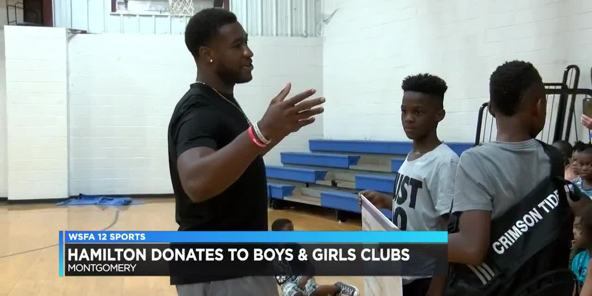 Shaun Dion Hamilton donates to Boys & Girls Clubs of the River Region