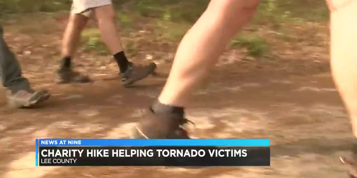 Charity hike benefits Lee County tornado victims