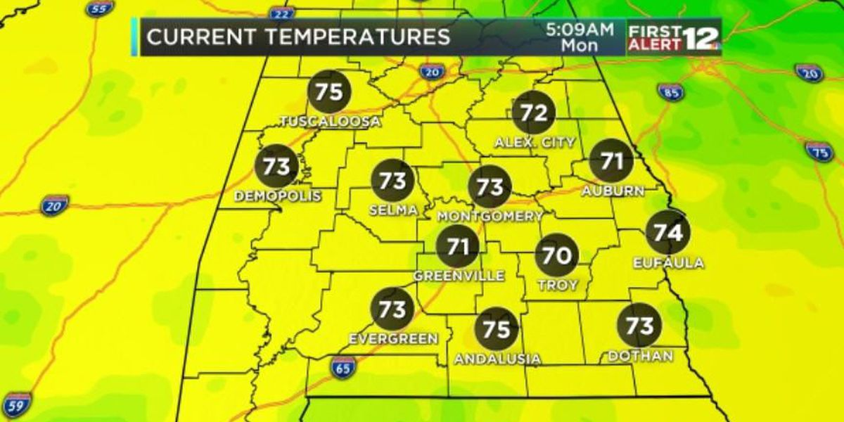 Eric: Monday's weather heating up