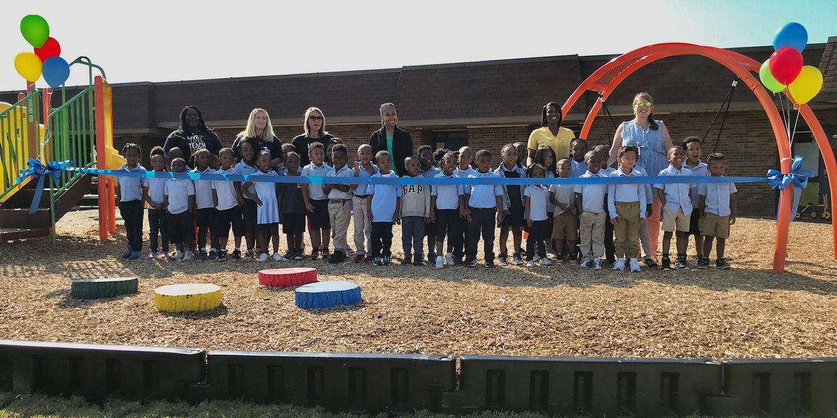 2 Montgomery pre-K schools open new playgrounds