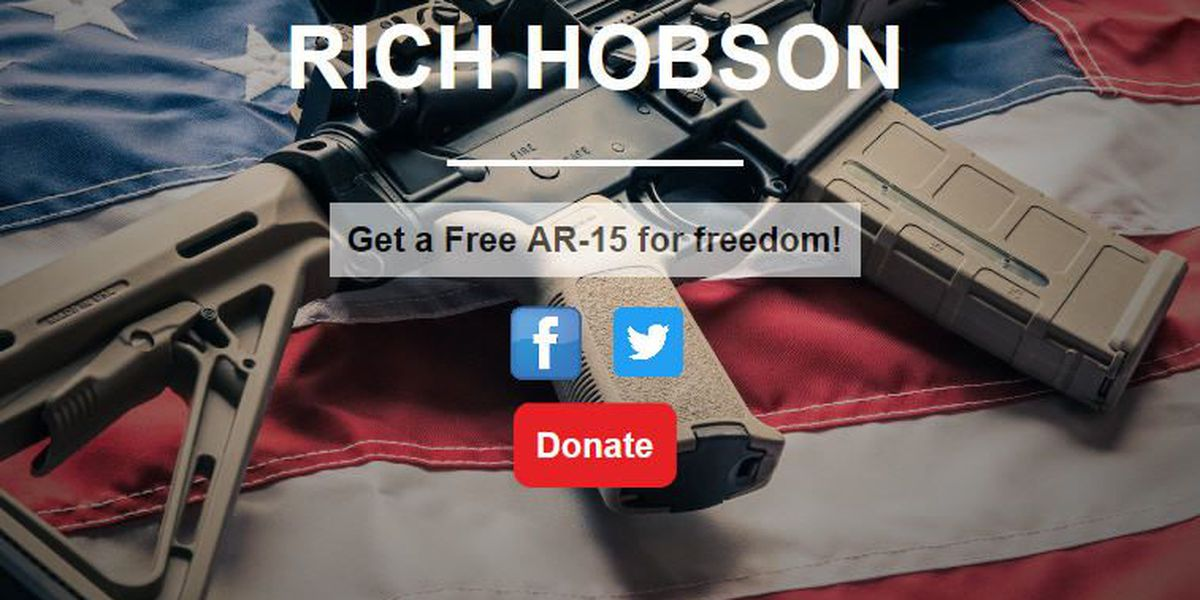 AL congressional candidate holds AR-15 giveaway