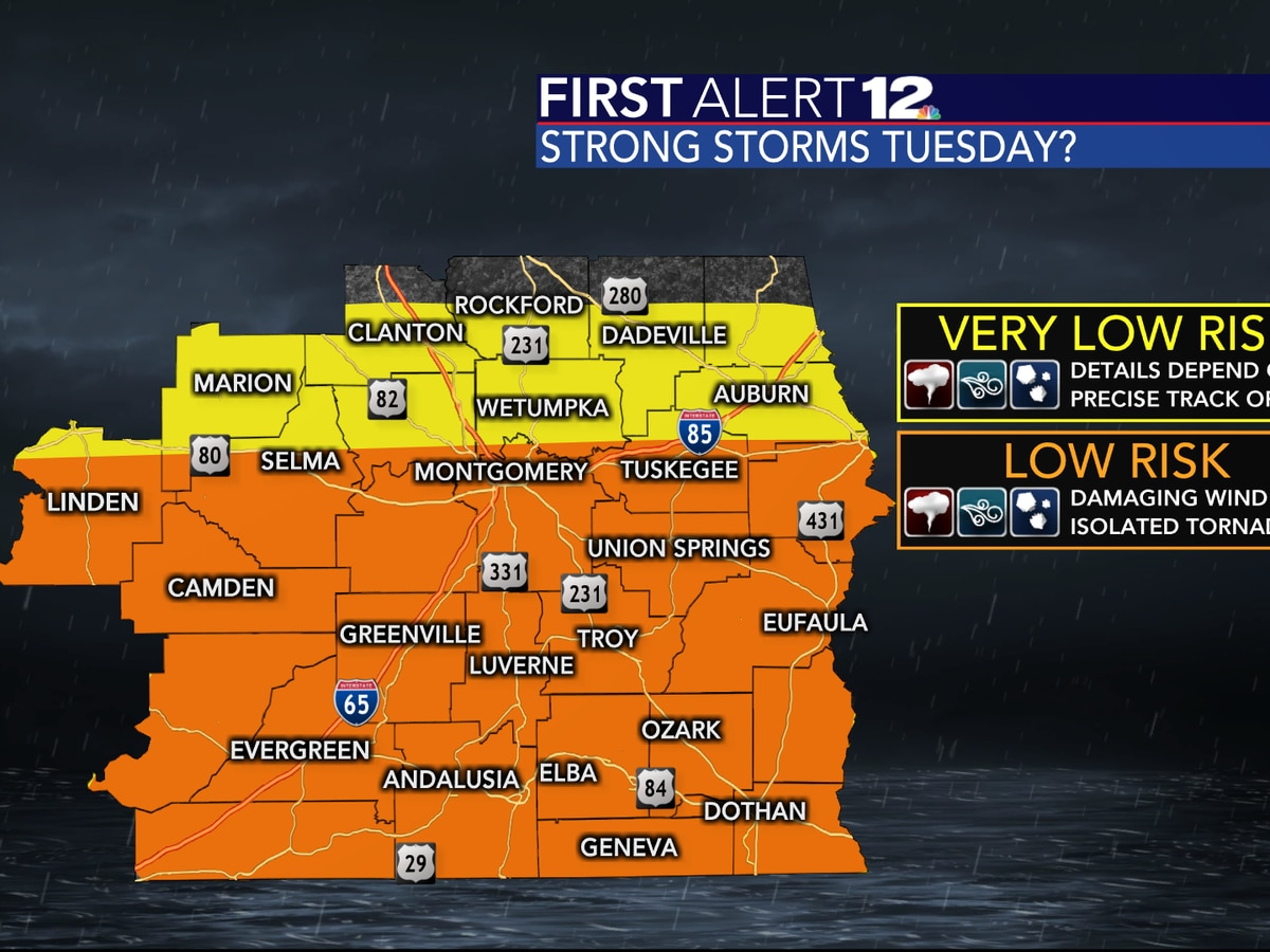 First Alert: Strong storms possible Tuesday