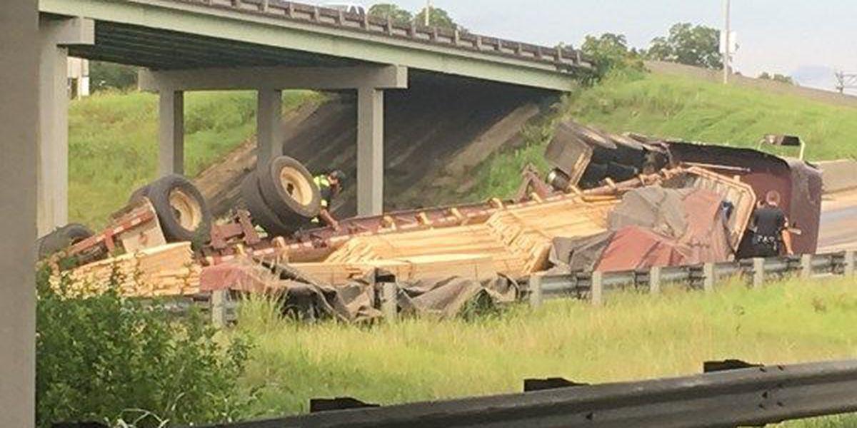 Ramp at I-65/85 Interchange re-opened after 18-wheeler overturned