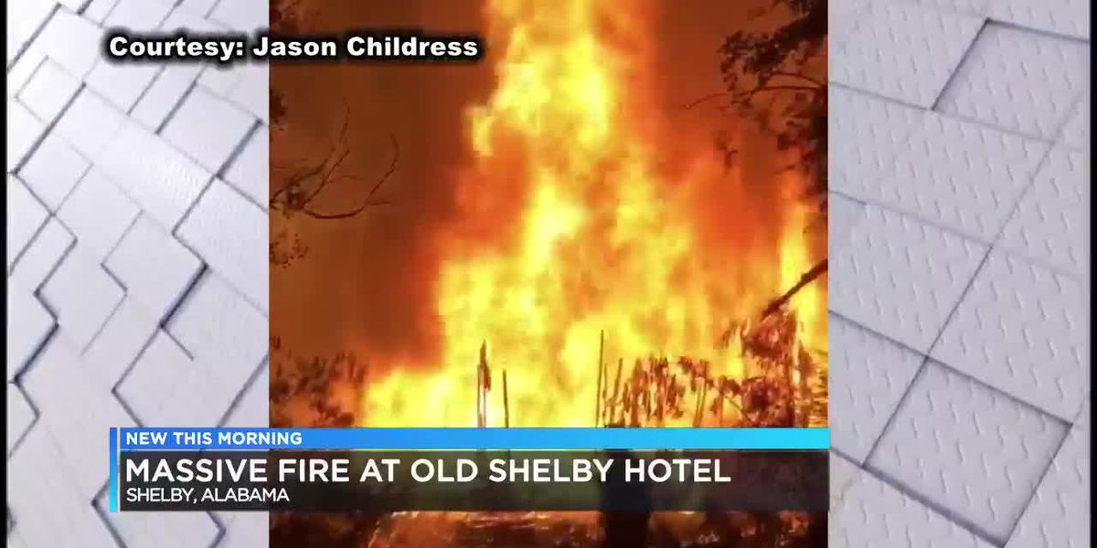 Fire destroys historic hotel in Shelby County
