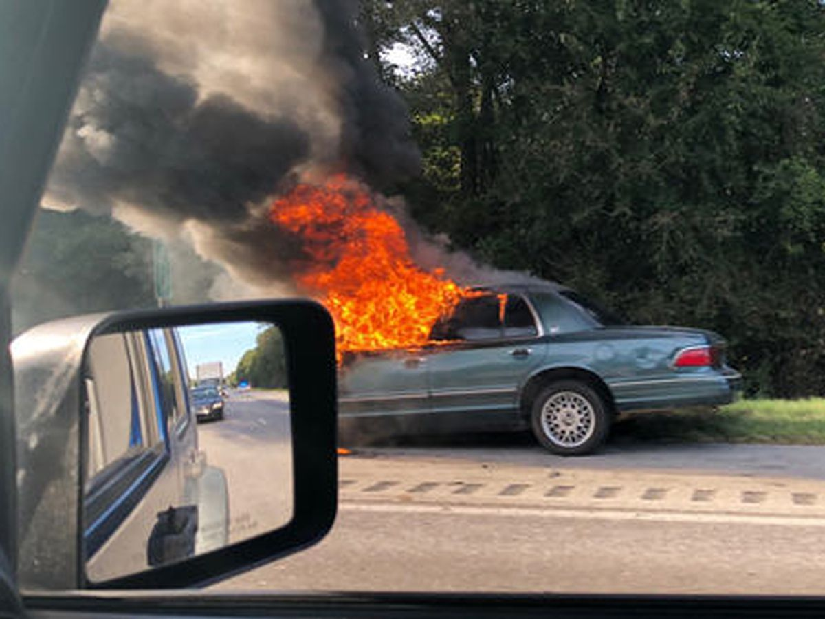 Vehicle fire causes delays on I-85 SB near Shorter