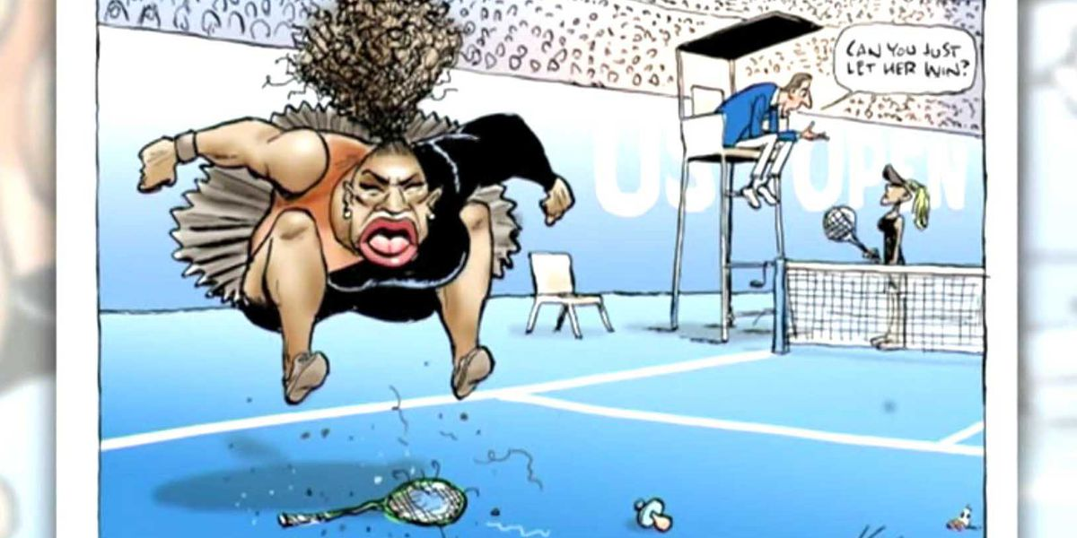 Cartoonist slammed for perceived racist depiction of Serena Williams