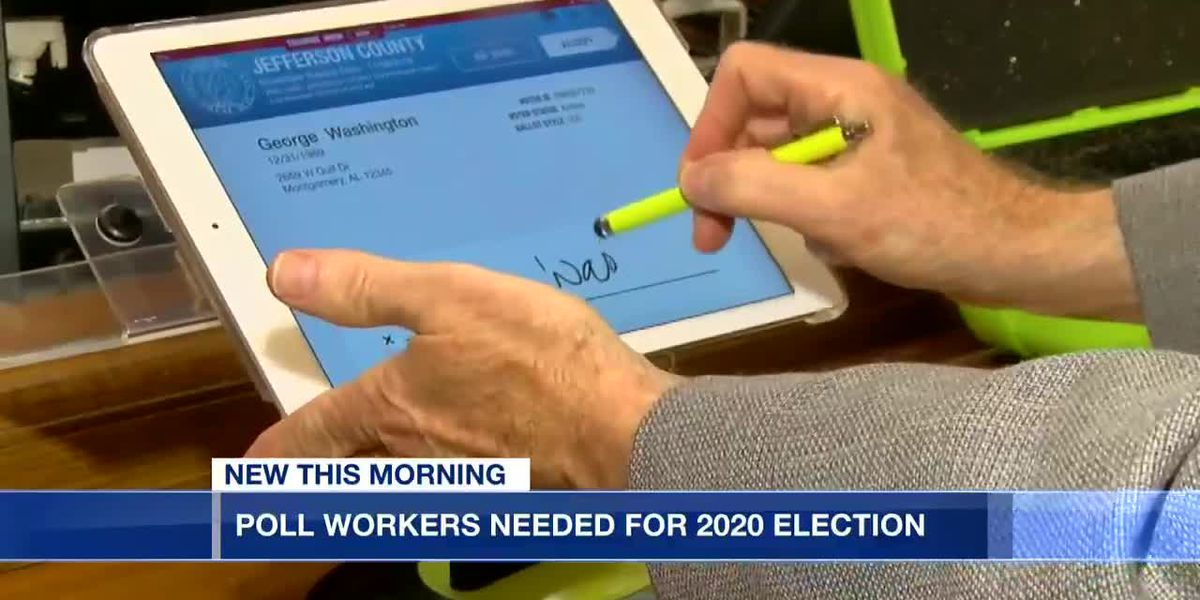 Poll workers needed for 2020 election
