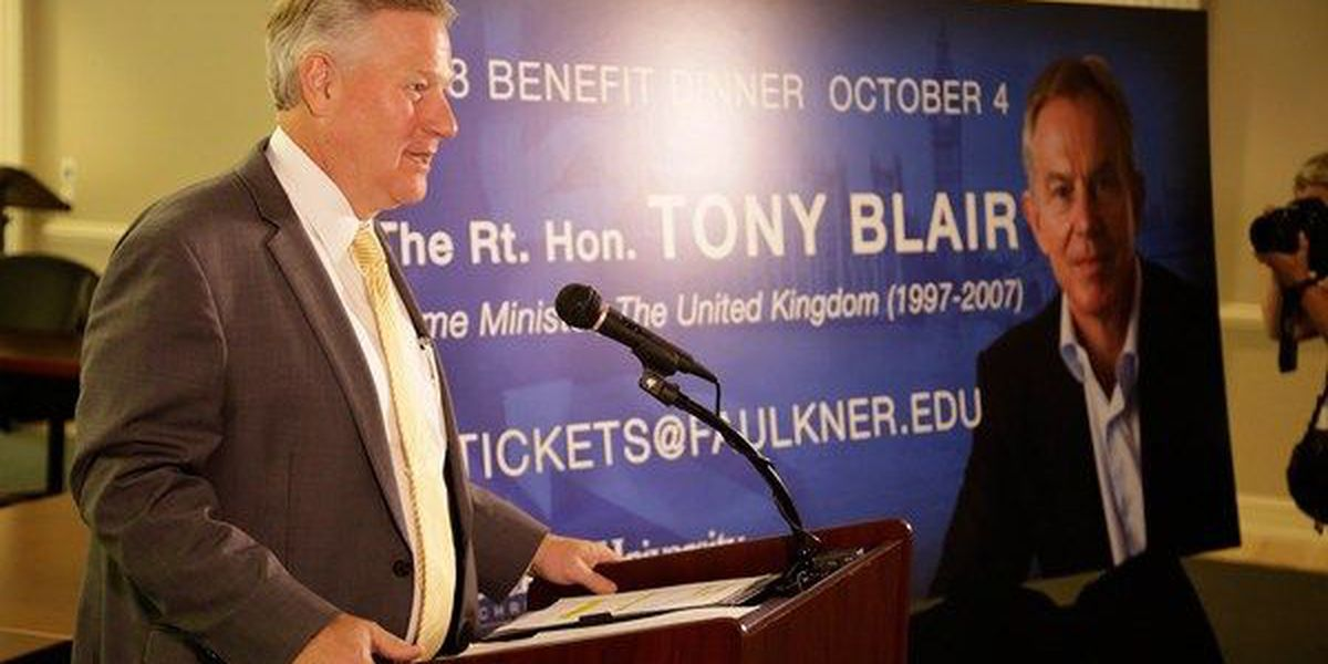 Former British Prime Minister Tony Blair coming to Montgomery