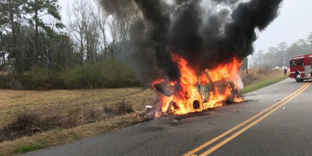 Man dies after Houston County crash Tuesday morning