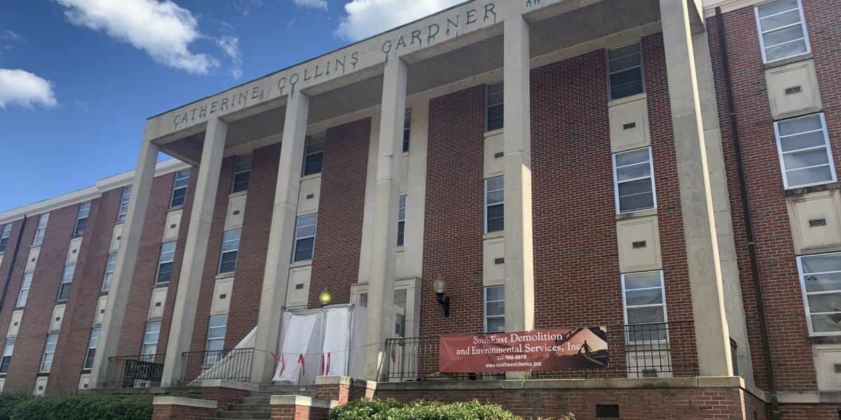 Troy University prepares to tear down old residence halls and natatorium