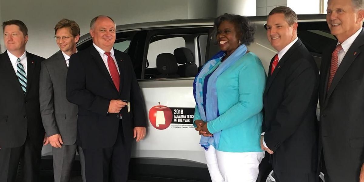 Montgomery teacher, Alabama's Teacher of the Year gets new ride