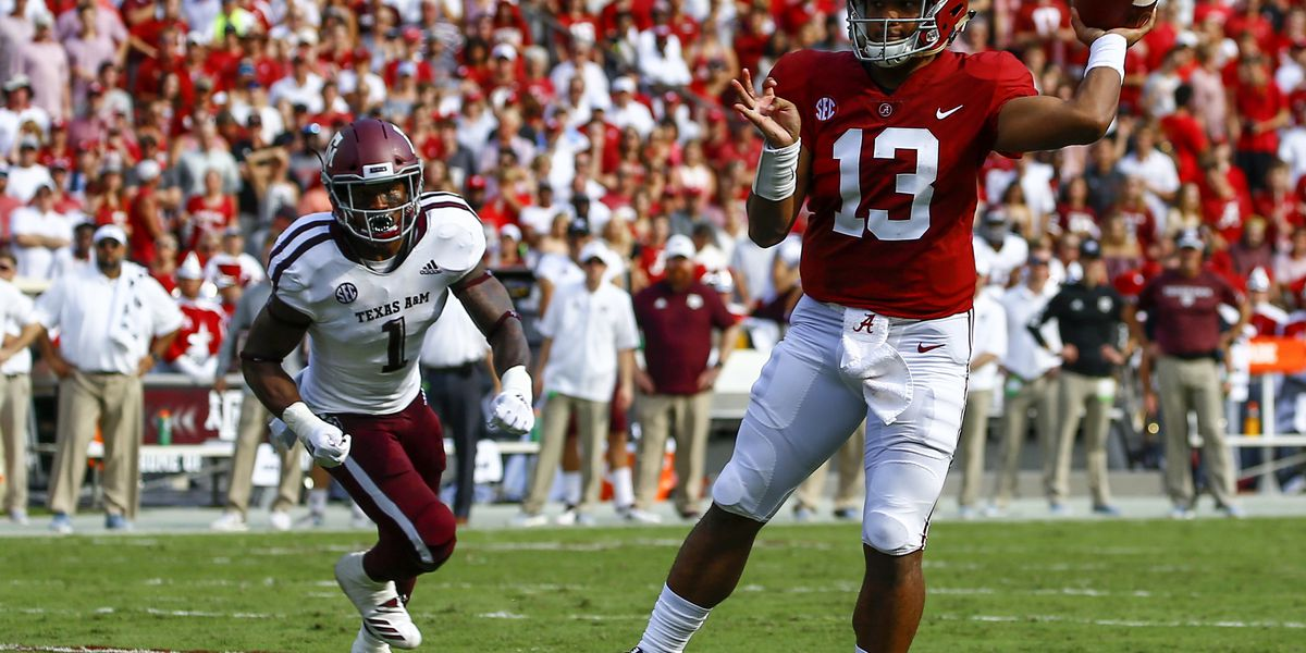 Tagovailoa propels No. 1 Bama past No. 22 Texas A&M, 45-23