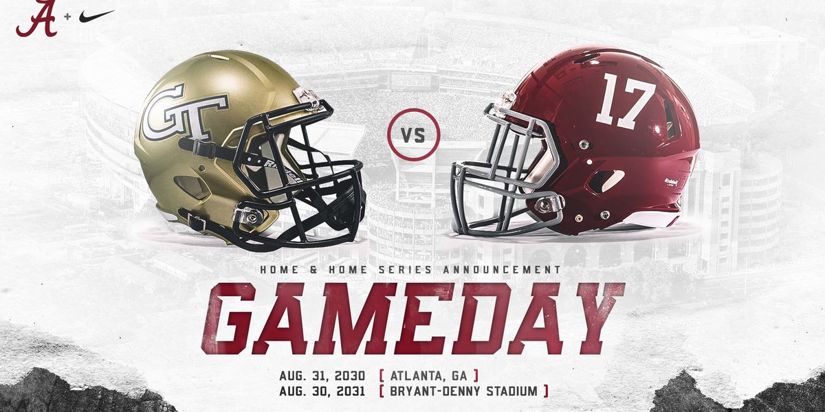 Alabama schedules home-and-home with Georgia Tech