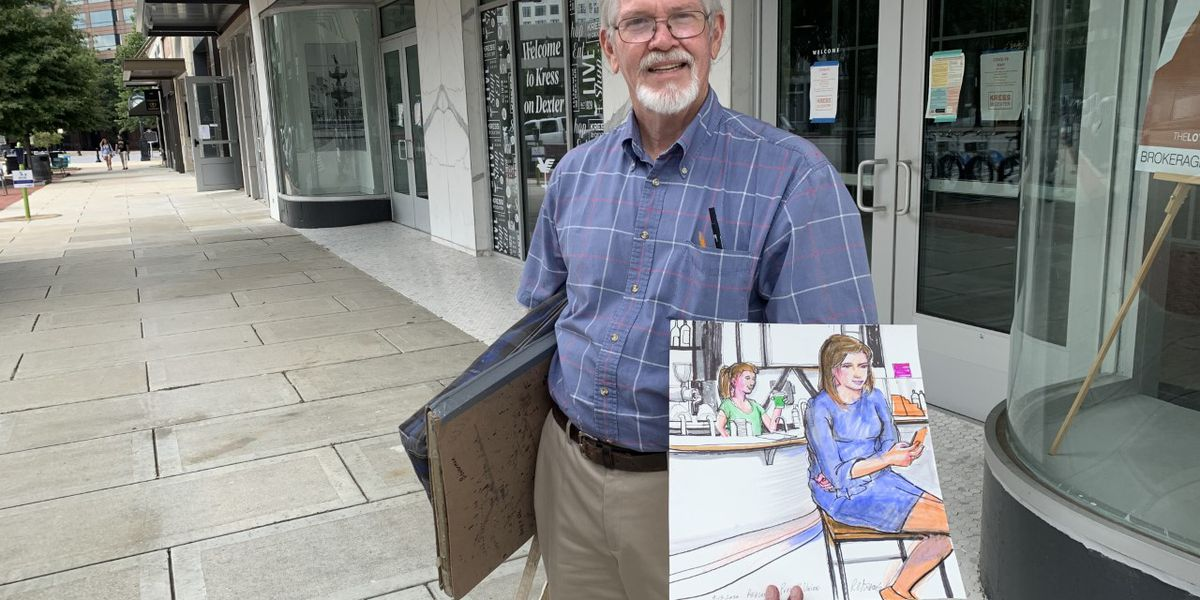 Courtroom sketch artist takes his talents to the streets