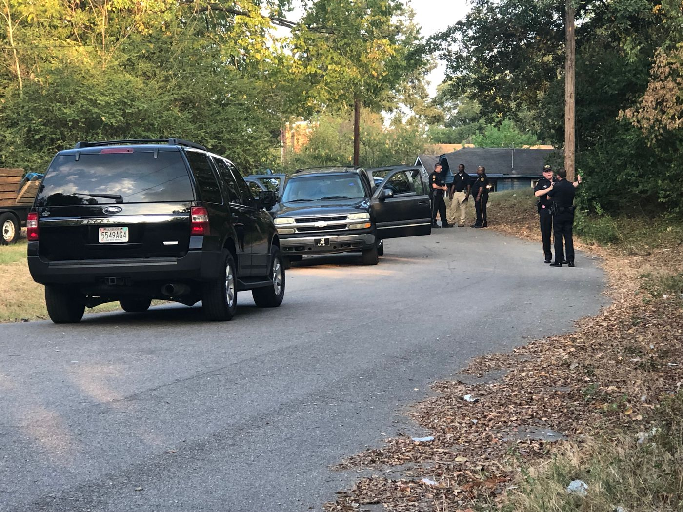 The vehicle used by two suspects to flee after a shot was fired at a Montgomery police officer was later found. One suspect was taken into custody.