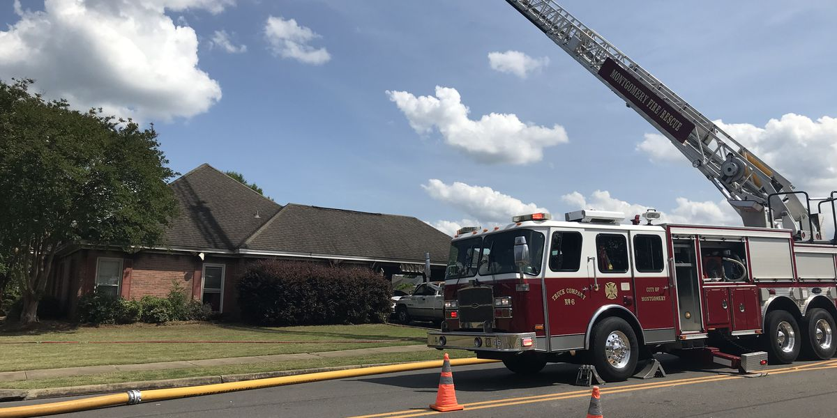 Fire causes 'heavy damage' to Montgomery home