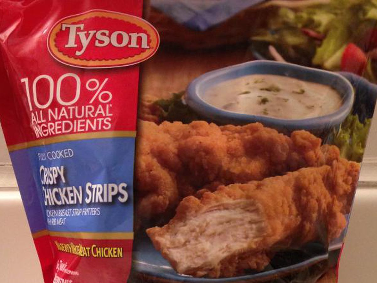 Tyson chicken strips recalled because they may contain metal
