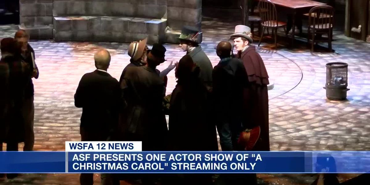 "ASF presents one actor show of ""A Christmas Carol"" streaming only"