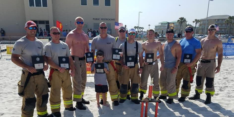 Firefighters take part in Pensacola Beach Firefighters Challenge