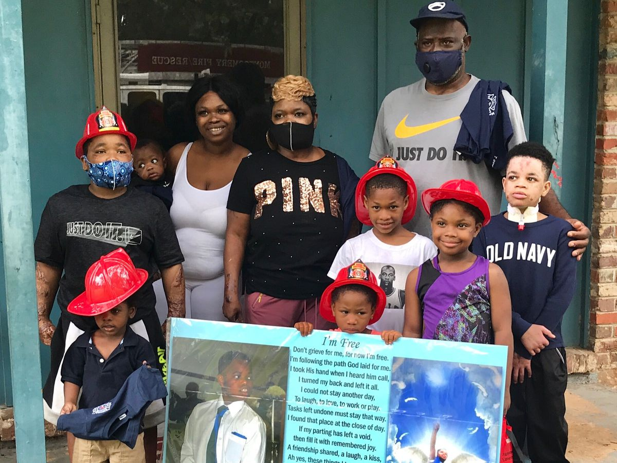 Montgomery firefighters reunite with family after deadly blaze