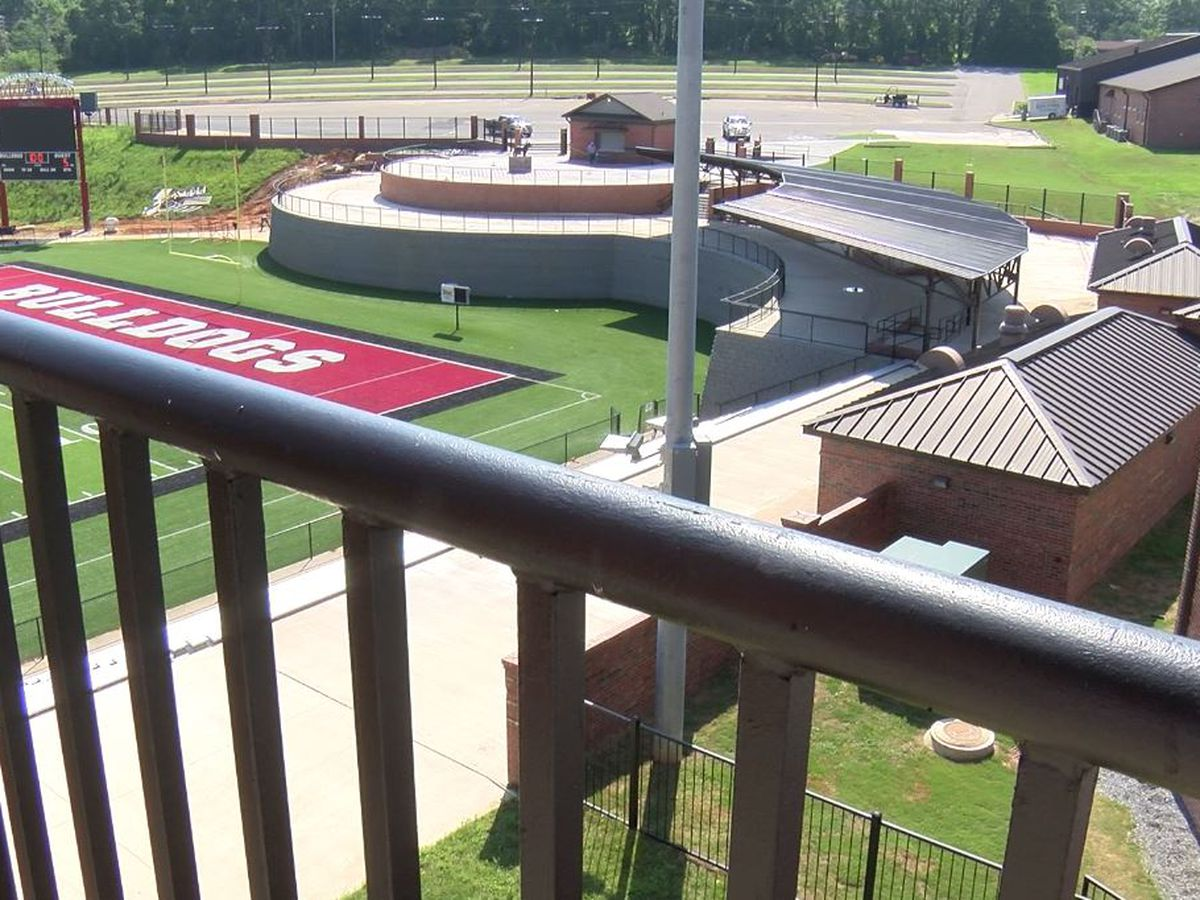 Andalusia High School football stadium and fine arts center near completion