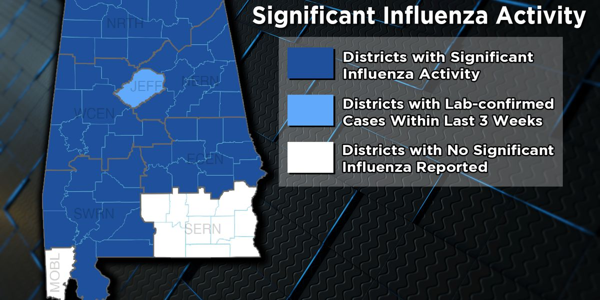 Flu virus spreading across Alabama