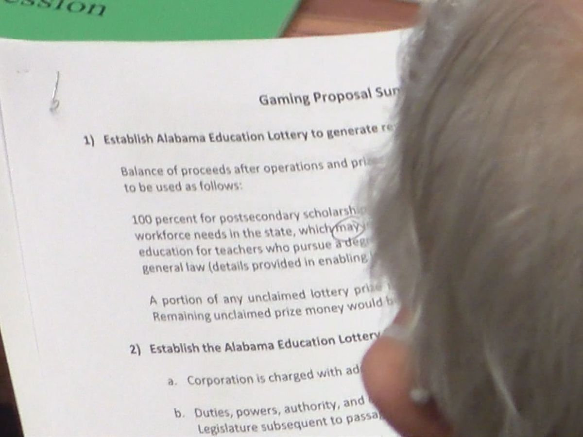 Alabama Senate expected to take up casino, lottery proposal Tuesday