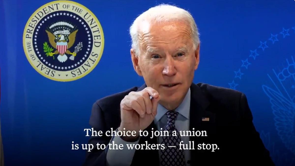 President Biden tweets support for Alabama Amazon unionization effort