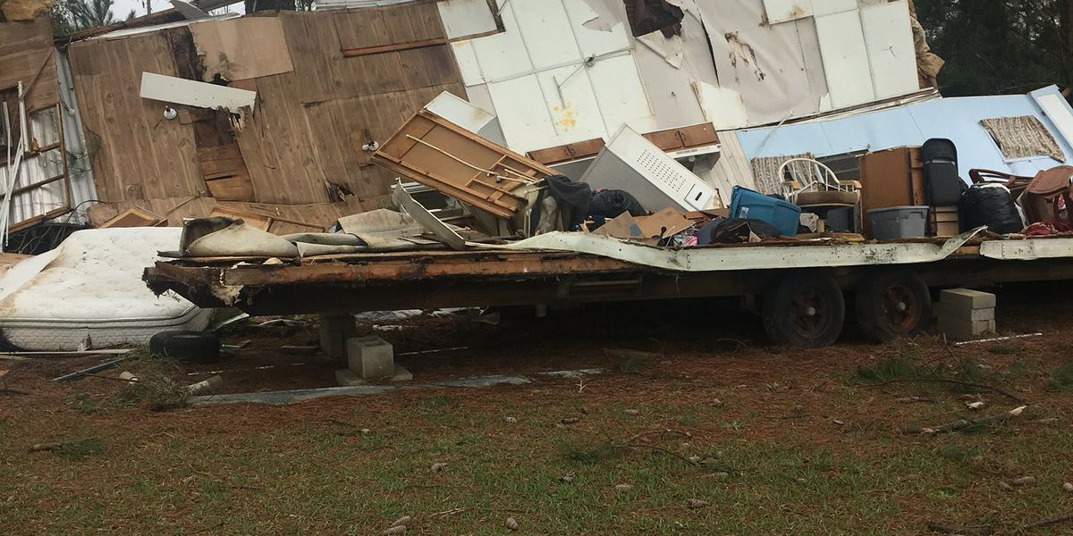 Signs of possible tornado damage in Geneva County