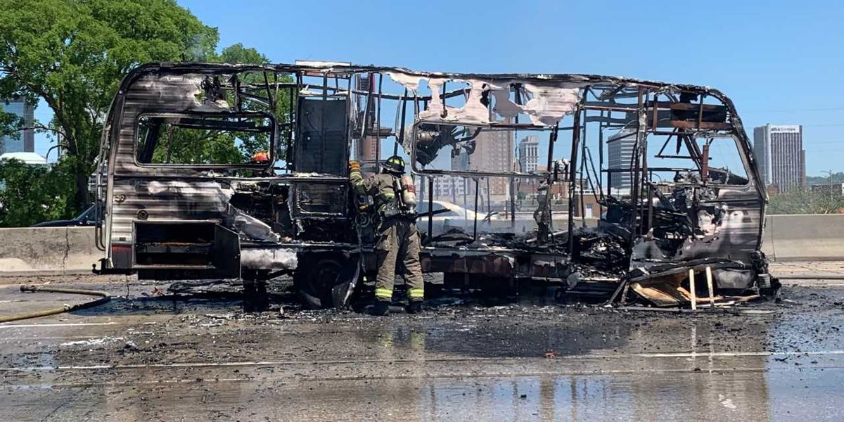 I-65 SB lanes in downtown B'ham reopen following vehicle fire