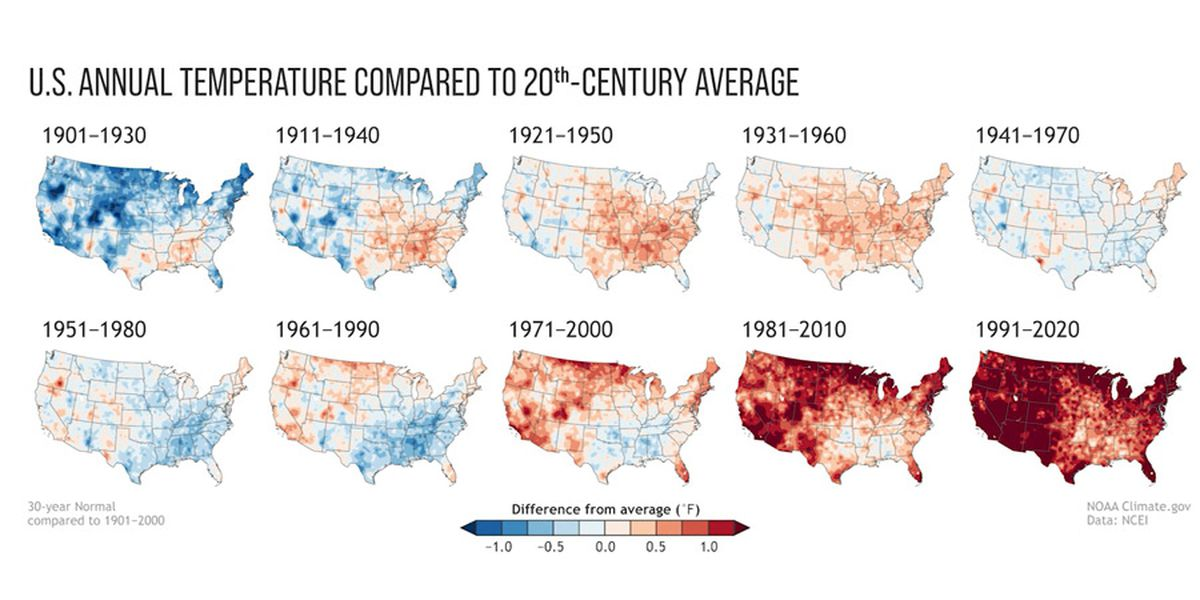 America's new normal: A degree hotter than two decades ago