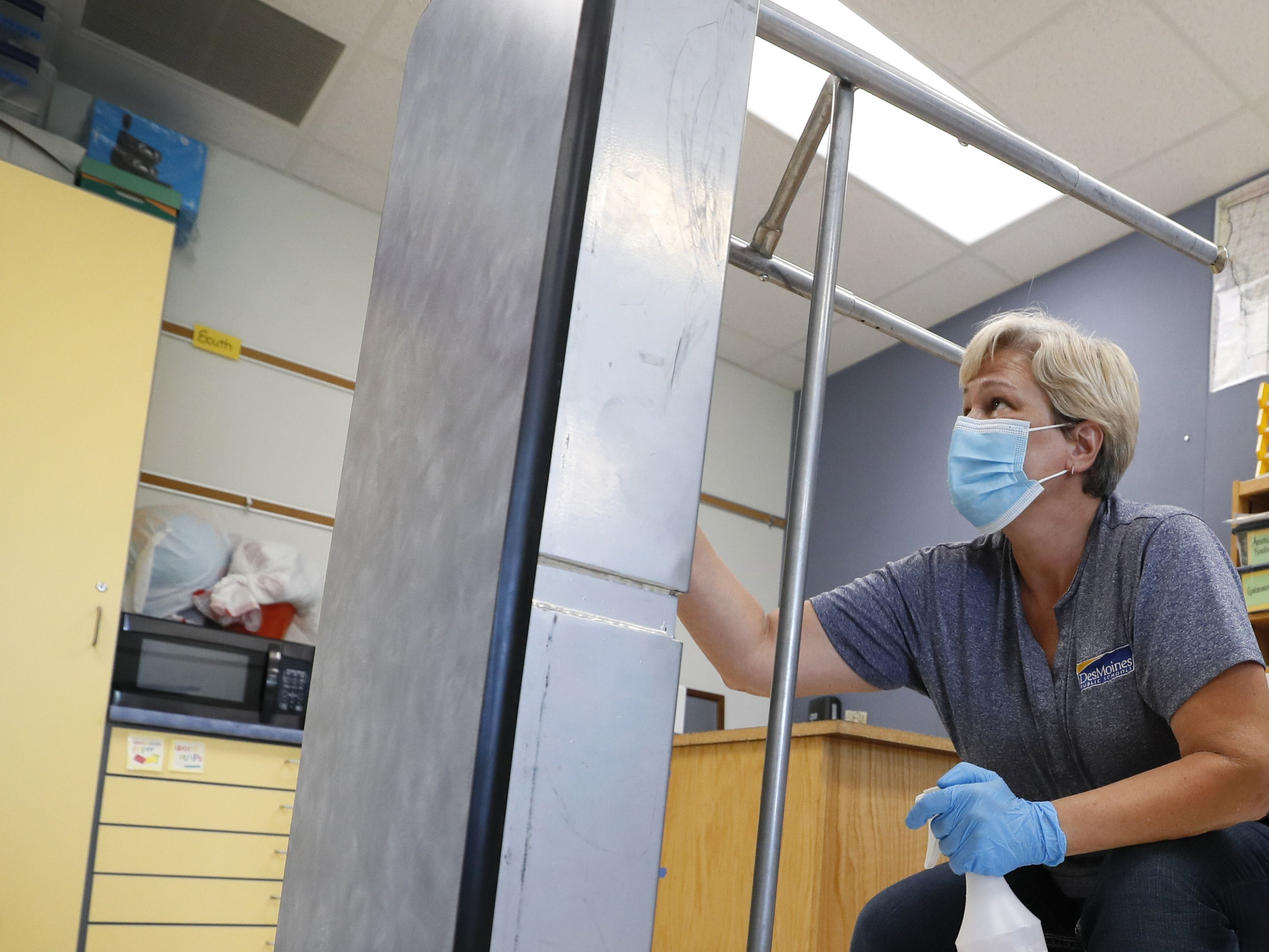 Will school districts be able to get the proper cleaning supplies?
