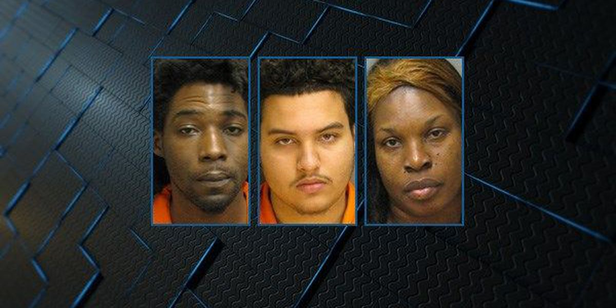 3 charged after credit cards, scanning device found in traffic stop