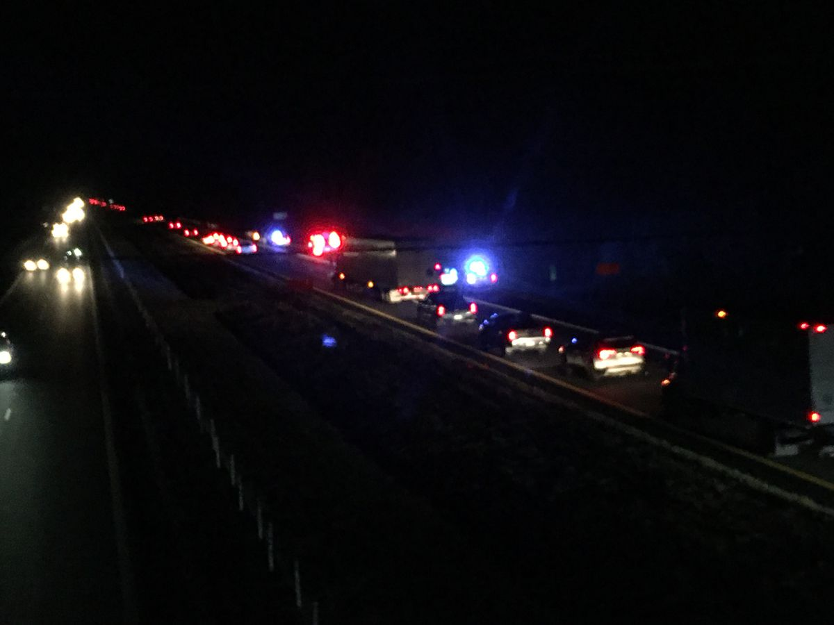 Pedestrian struck in I-85NB crash near Waugh at mile marker 17