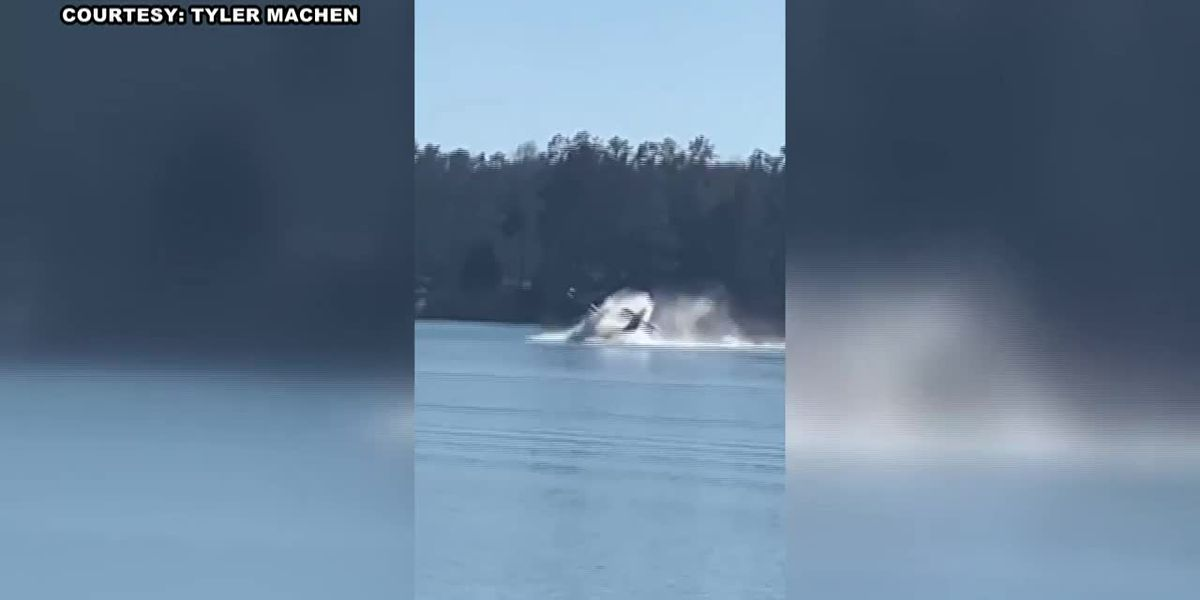 VIDEO: Pilot survives wreck on Lake Martin, Alabama's 3rd plane crash in 4 days