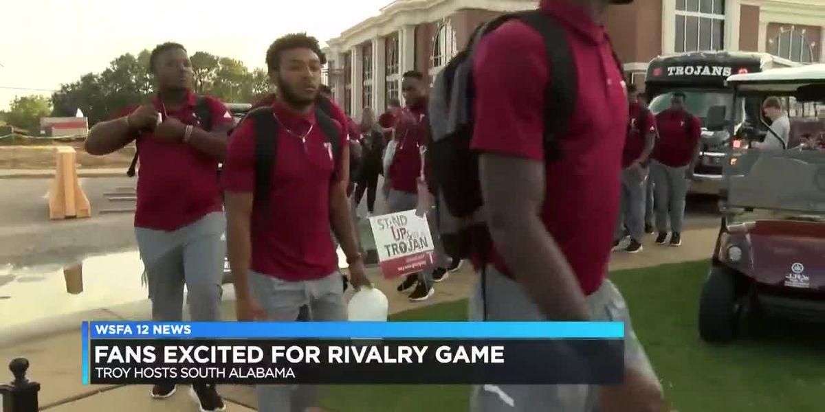 Troy fans gather as football battles rival