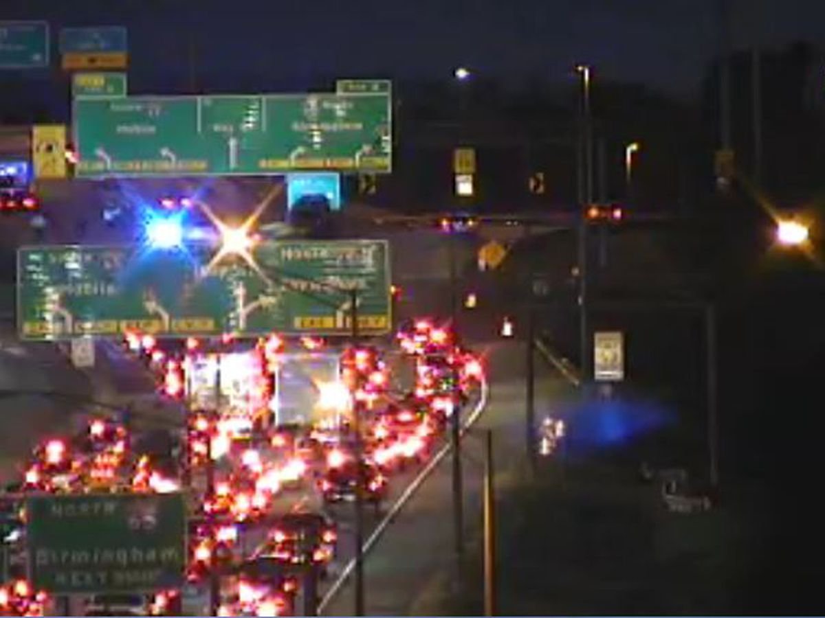 I-85 southbound in Montgomery clear after crash