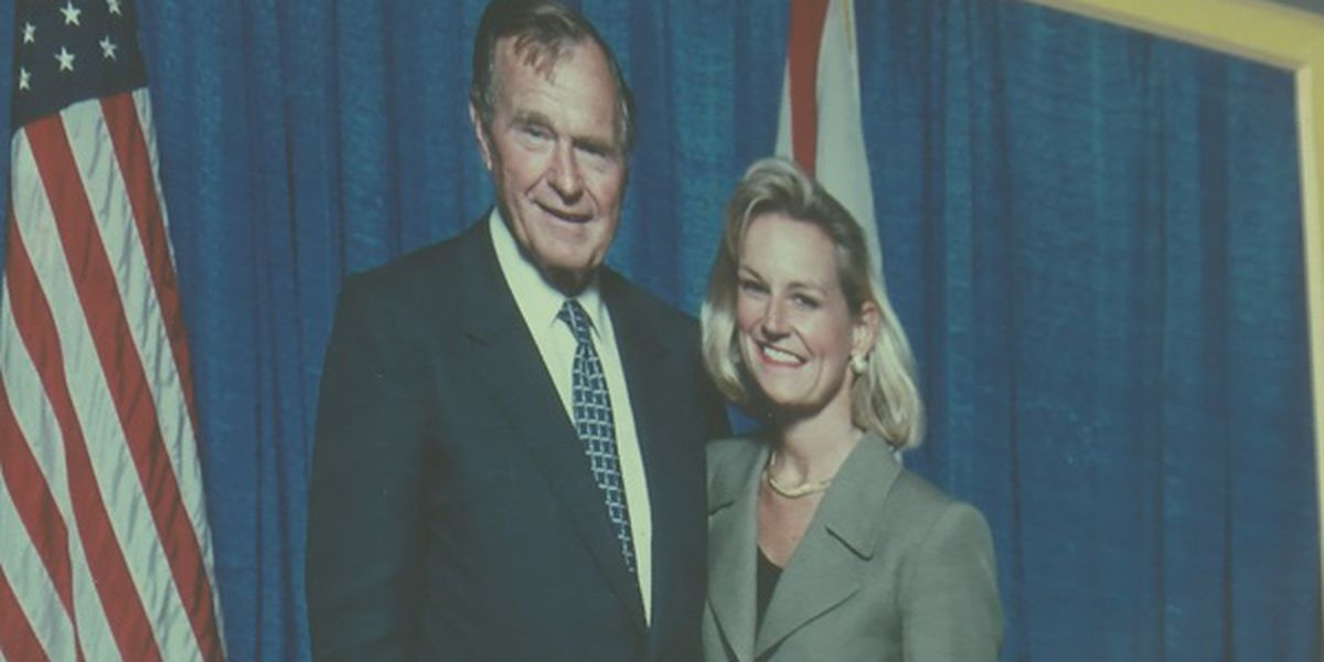 Local woman remembers working with President George H. W. Bush